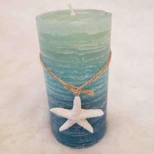 3/$20 Kohl's Blue Ocean Ombre Sea Star Candle